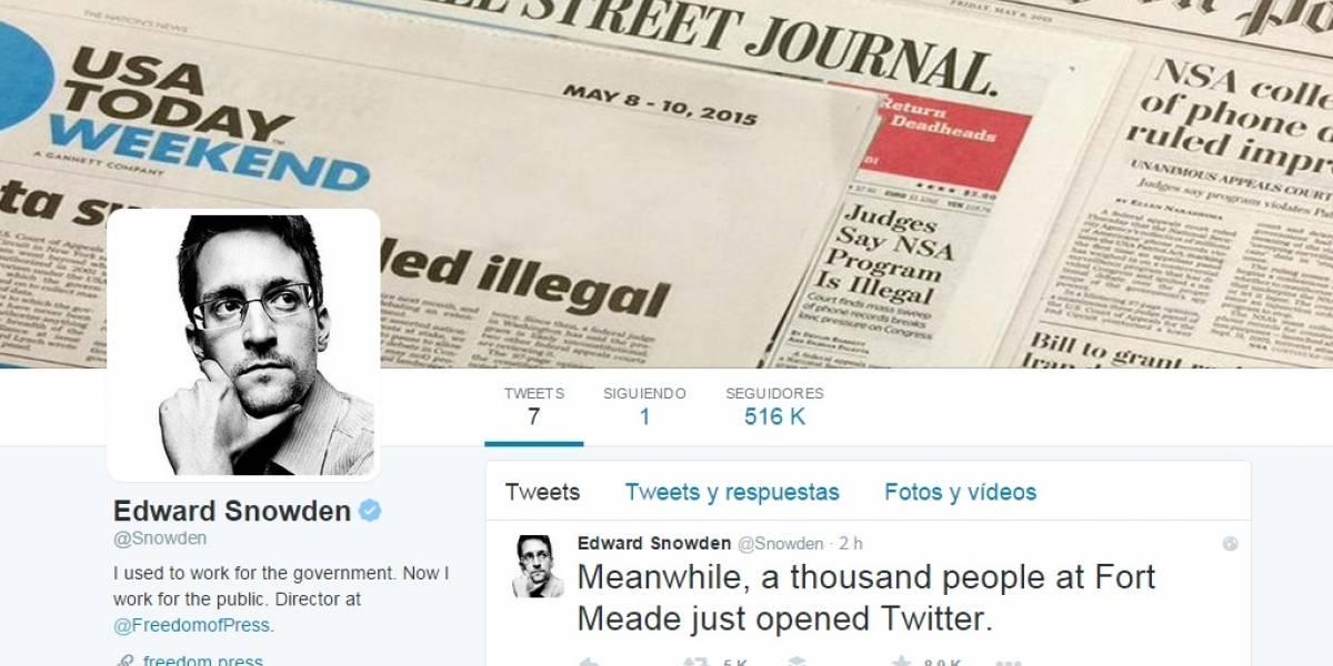 Edward Snowden abre cuenta oficial en Twitter