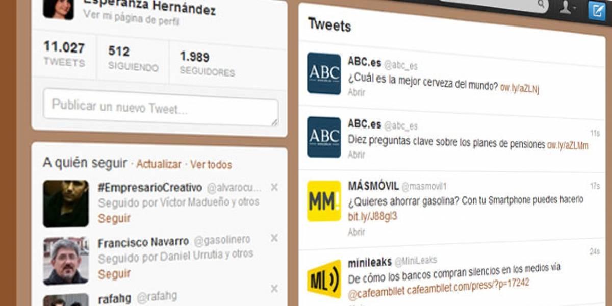 Twitter nos ofrecerá sugerencias según los sitios Web que visitamos