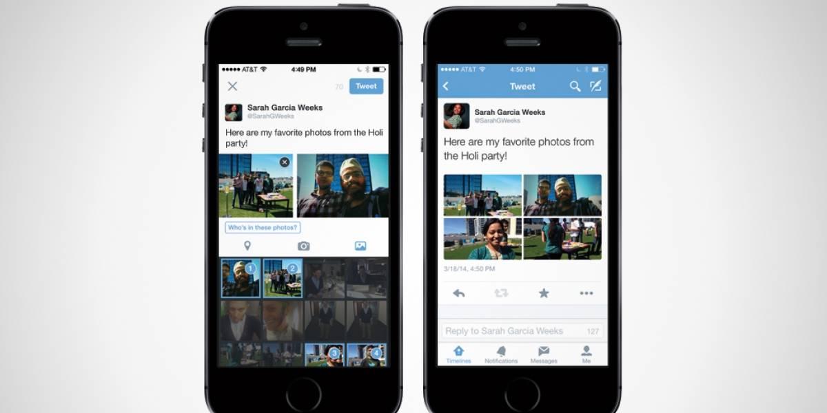 Twitter agrega opción para compartir hasta 4 fotos en un tuit