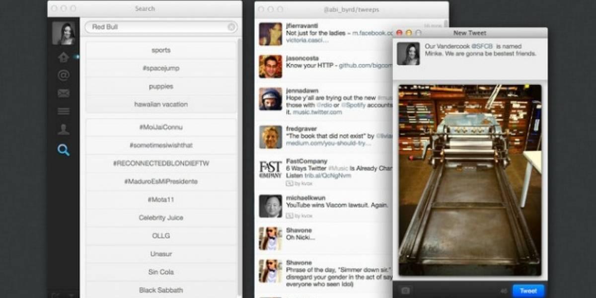 Twitter para Mac ahora está en español