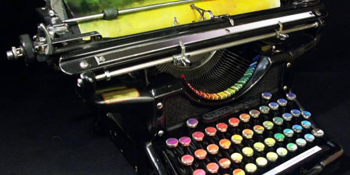 La máquina de escribir que pinta cuadros