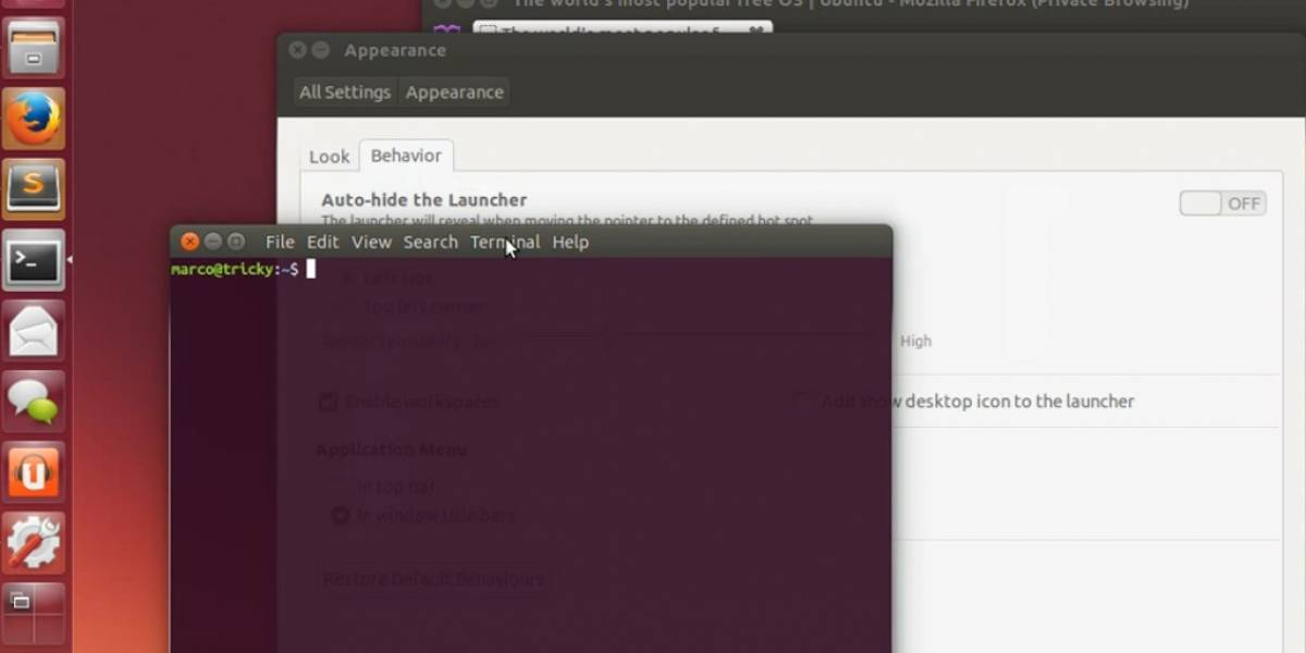 Ubuntu traerá de vuelta los menús a las ventanas de aplicaciones