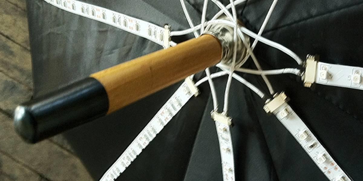 Un paraguas que te oculta de las cámaras de vigilancia