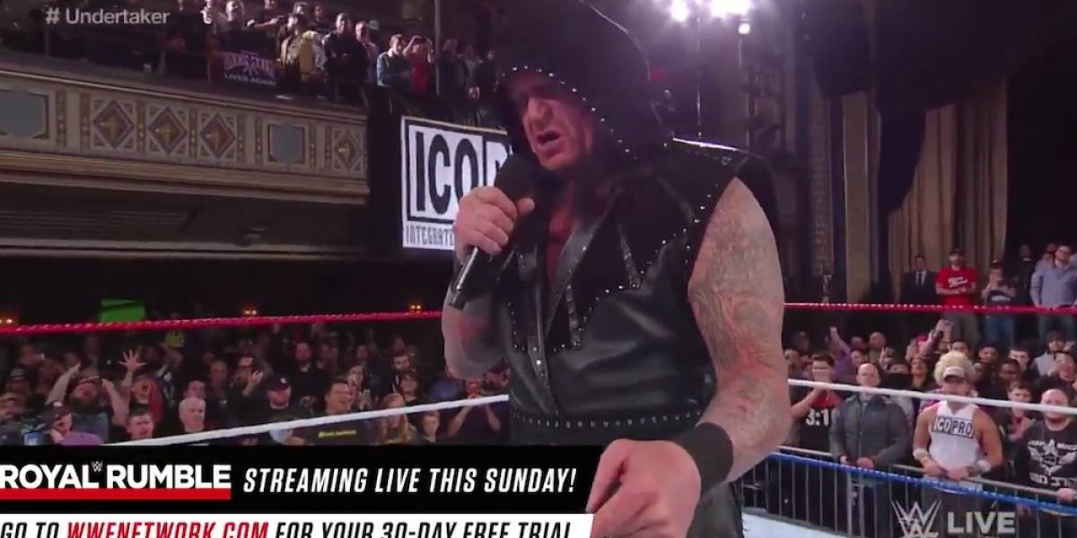 The Undertaker reapareció en WWE y generó incertidumbre