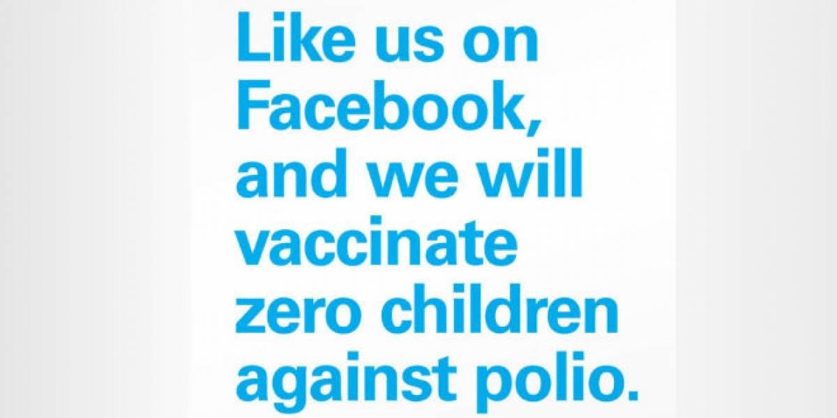 """Unicef dice que los """"me gusta"""" de Facebook no salvan vidas"""
