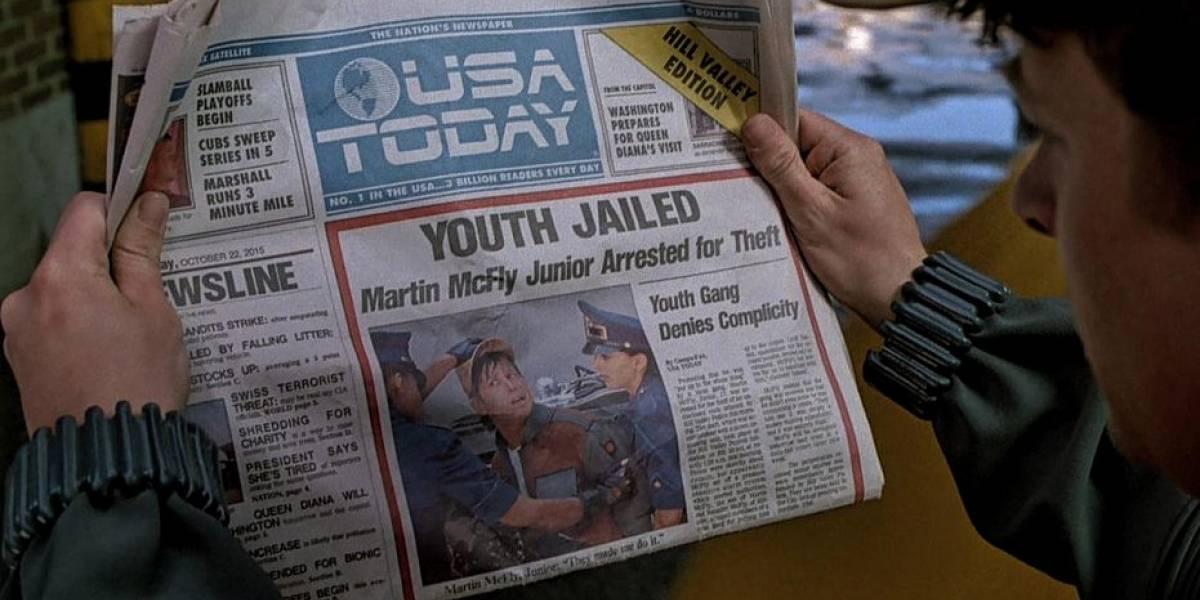 El diario USA Today imprime la portada de Back to the Future II #B2TFDAY