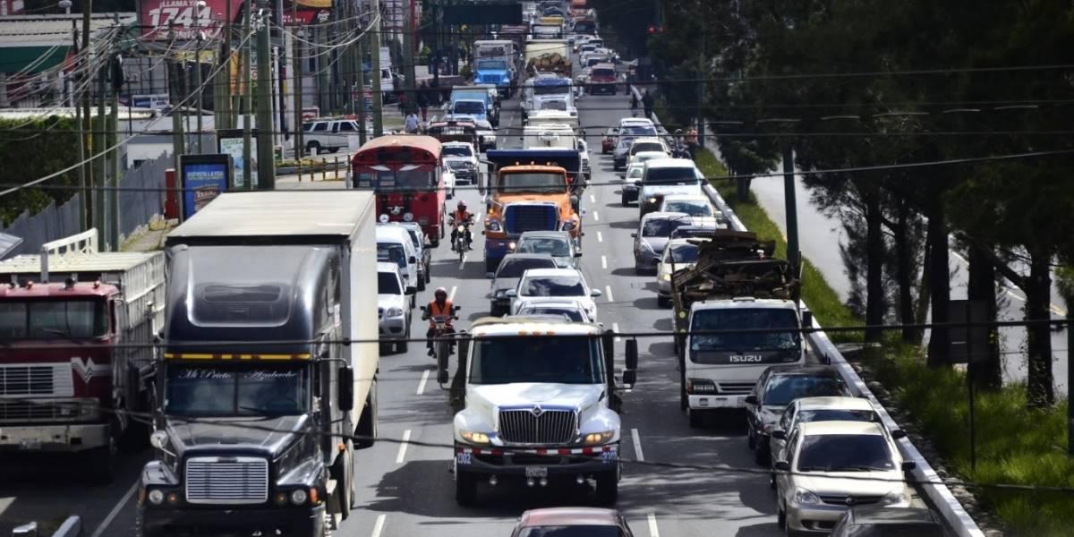 TráficoGT: 731 mil vehículos ingresan a la Ciudad cada día desde las ciudades dormitorio