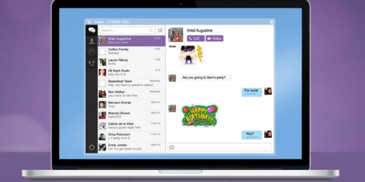 Viber lanza aplicación para Windows y Mac, y llega a 200 millones de usuarios