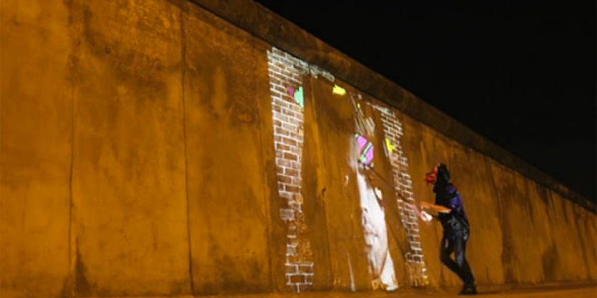 Mira como Swatshoppe pinta paredes con video a lo largo de Europa