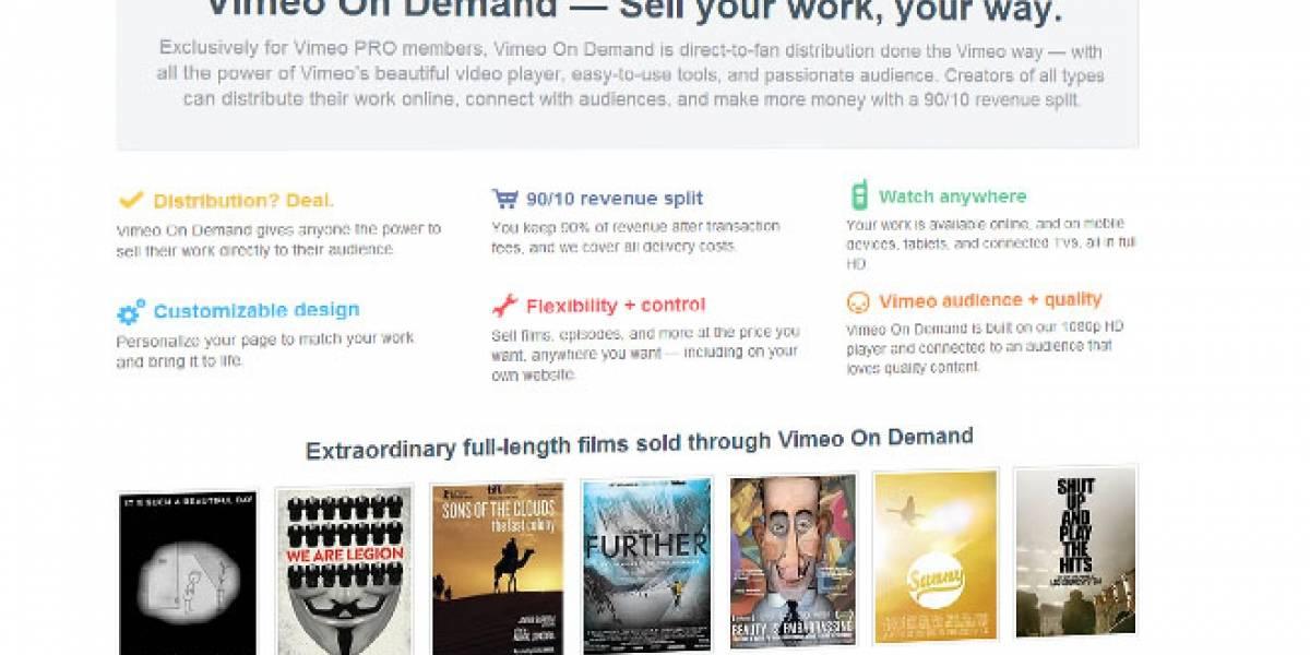 Vimeo lanza servicio que permitirá a realizadores vender o arrendar sus creaciones