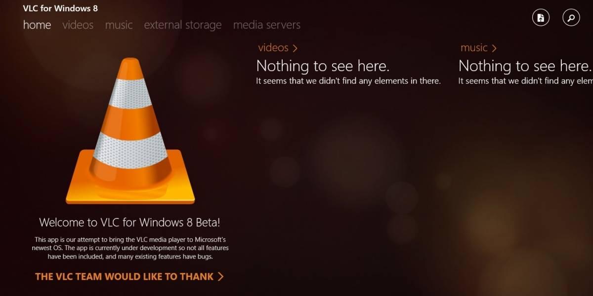 Ya está disponible VLC para Windows 8