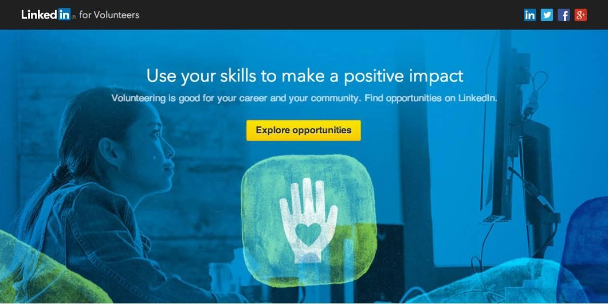 LinkedIn lanza un servicio para voluntarios y entidades sin fines de lucro