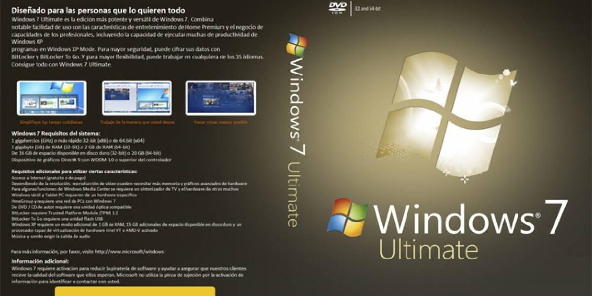 Microsoft ha vendido 600 millones de copias de Windows 7 a la fecha