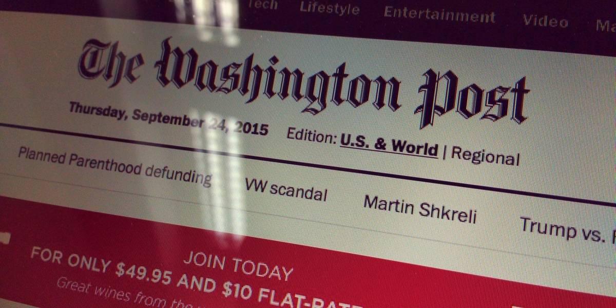 El Washington Post publicará todos sus artículos directo en Facebook