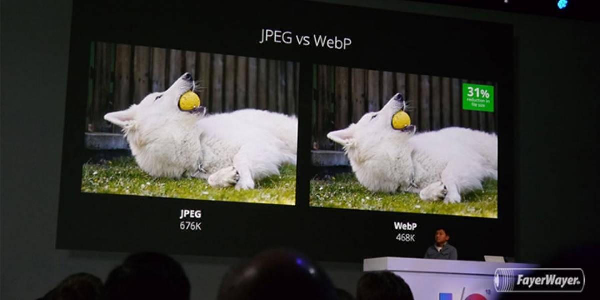 Google estrena nuevo formato WebP para imágenes que compite a JPG y GIF #IO13