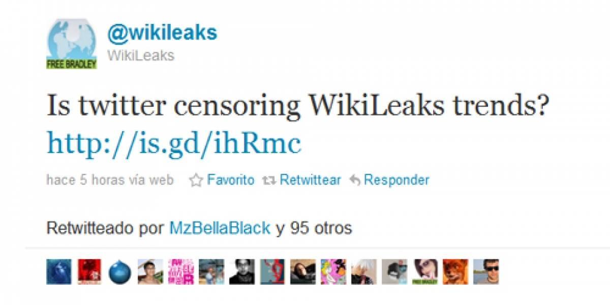 Wikileaks ahora sospecha que Twitter lo está censurando