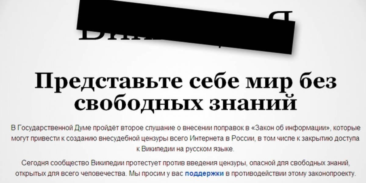 Wikipedia se auto-censura en Rusia en protesta contra nueva ley