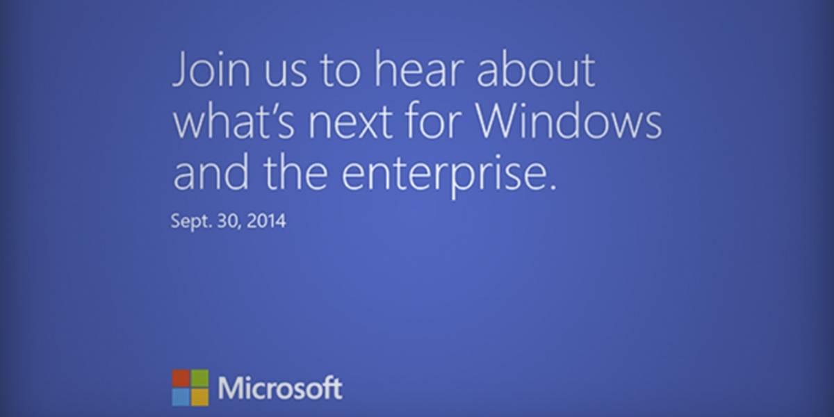 Microsoft anuncia un evento oficial sobre Windows 9 para este 30 de septiembre