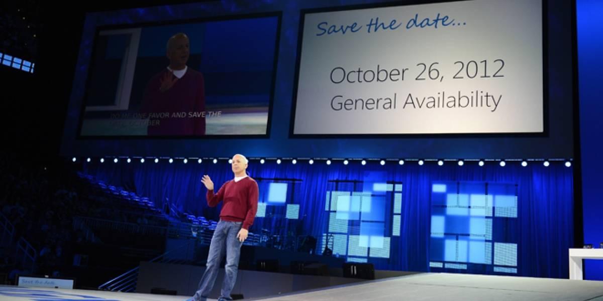 Windows 8 sale a la venta el 26 de octubre
