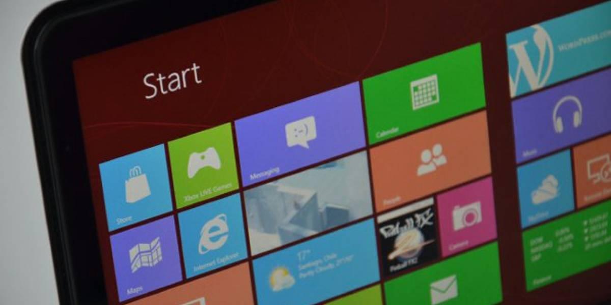 Alrededor de un 3% de los usuarios ha actualizado a Windows 8