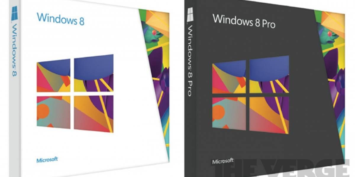 Este es el embalaje de Windows 8 de Microsoft