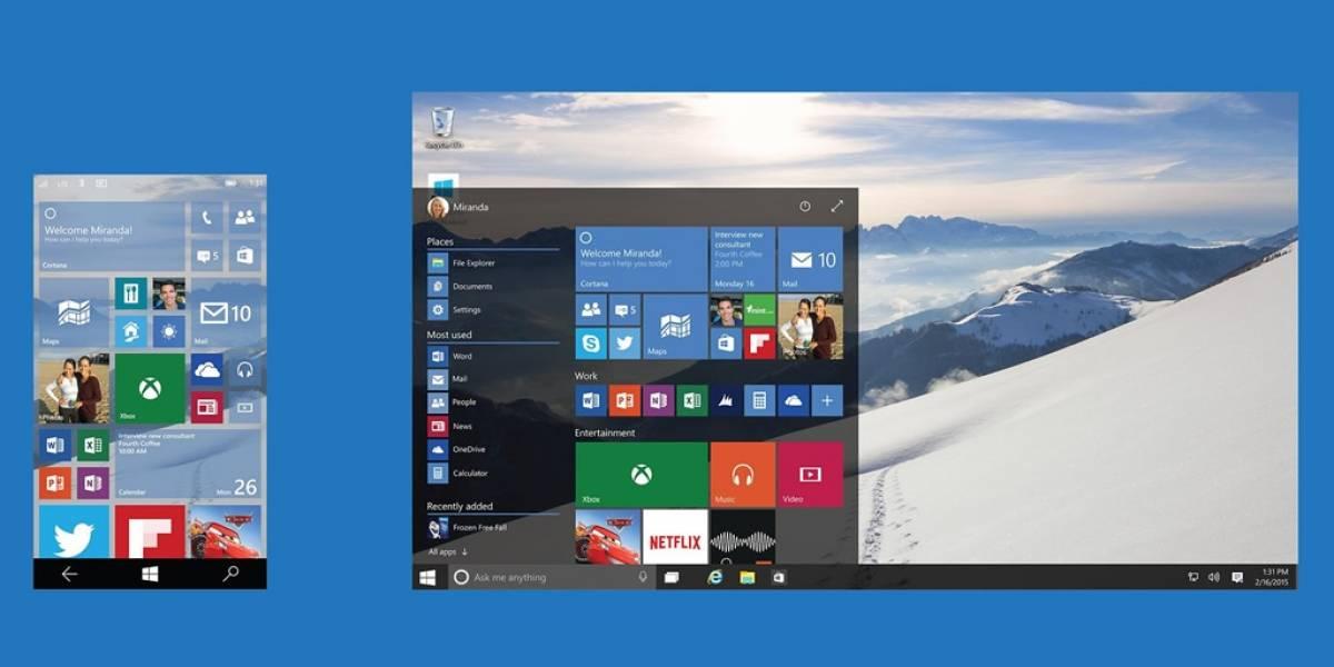 Microsoft actualizará Windows 10 constantemente