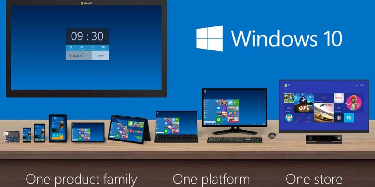 Windows 10 tendrá 7 versiones