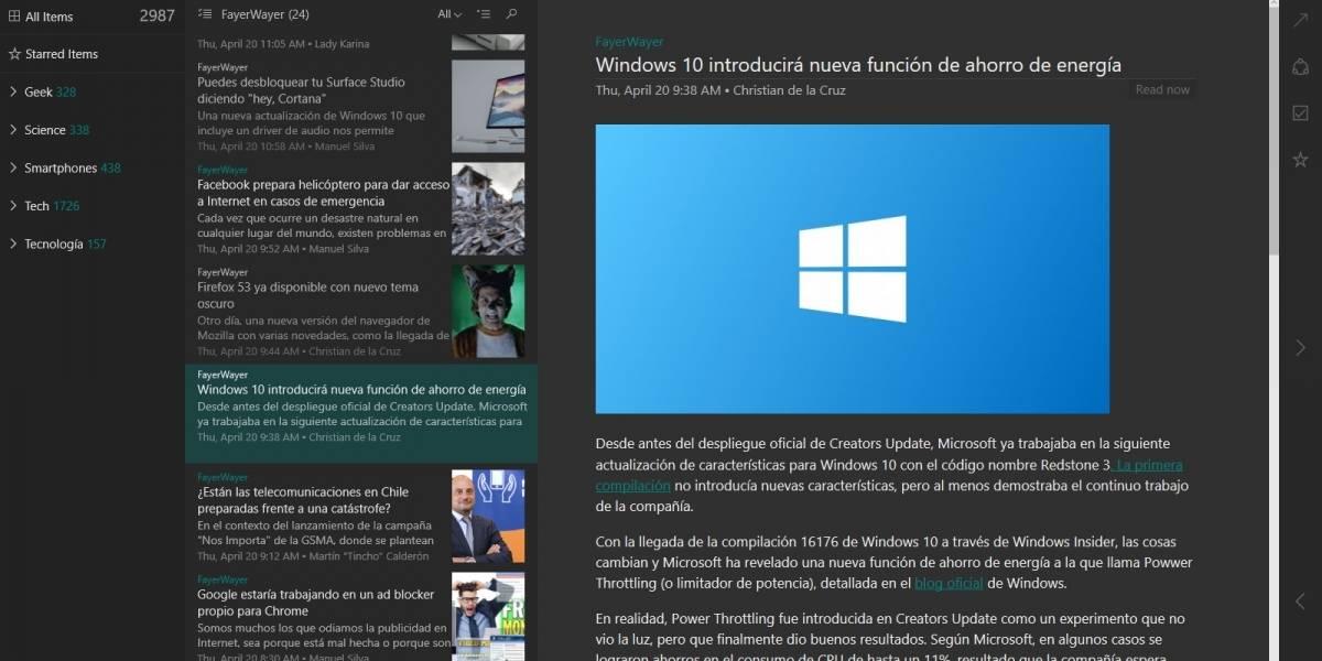 Cómo cambiar a pantalla completa las aplicaciones de Windows 10