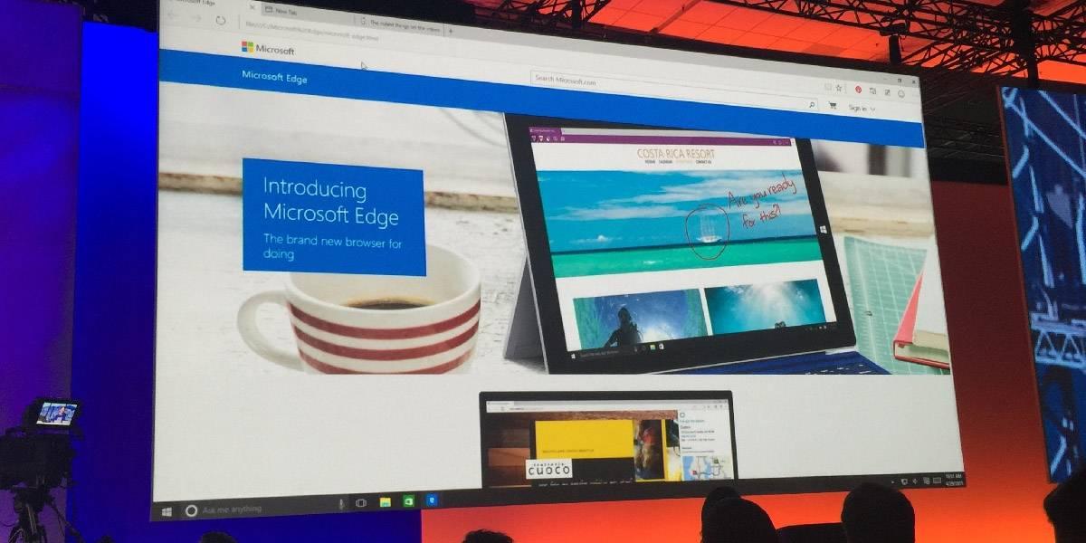 El nuevo navegador de Windows 10 se llama Microsoft Edge #Build2015