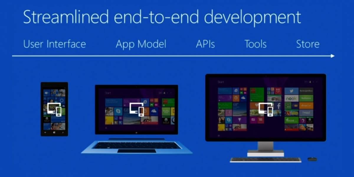 Windows, Windows Phone y Xbox se convierten en una sola plataforma para aplicaciones