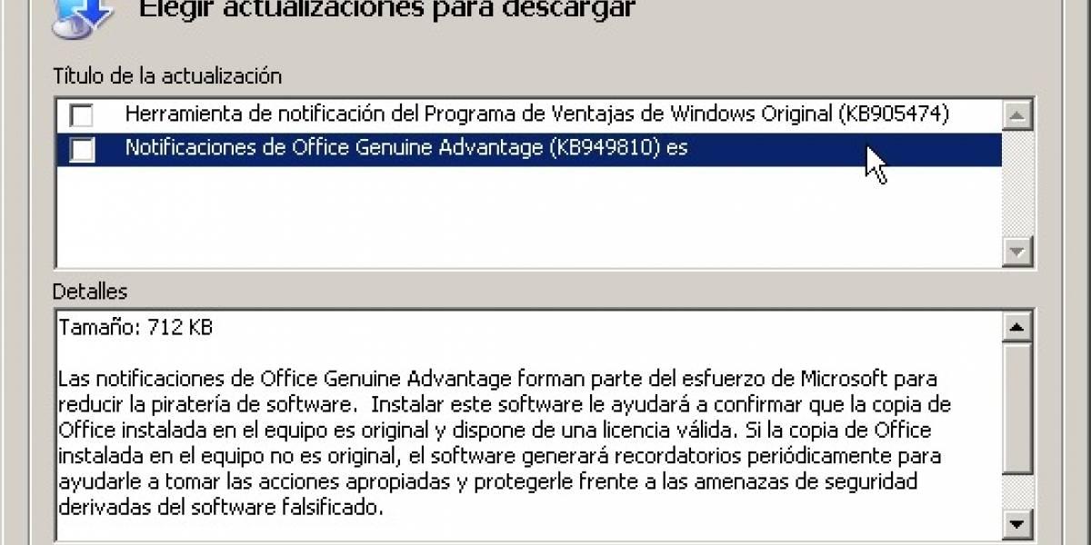 Microsoft da de baja Office Genuine Advantage sin mayores explicaciones