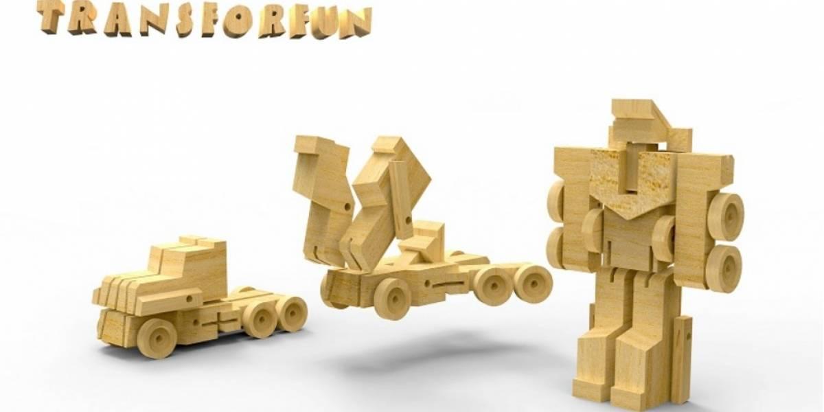 Los WooBots son como Transformers de madera