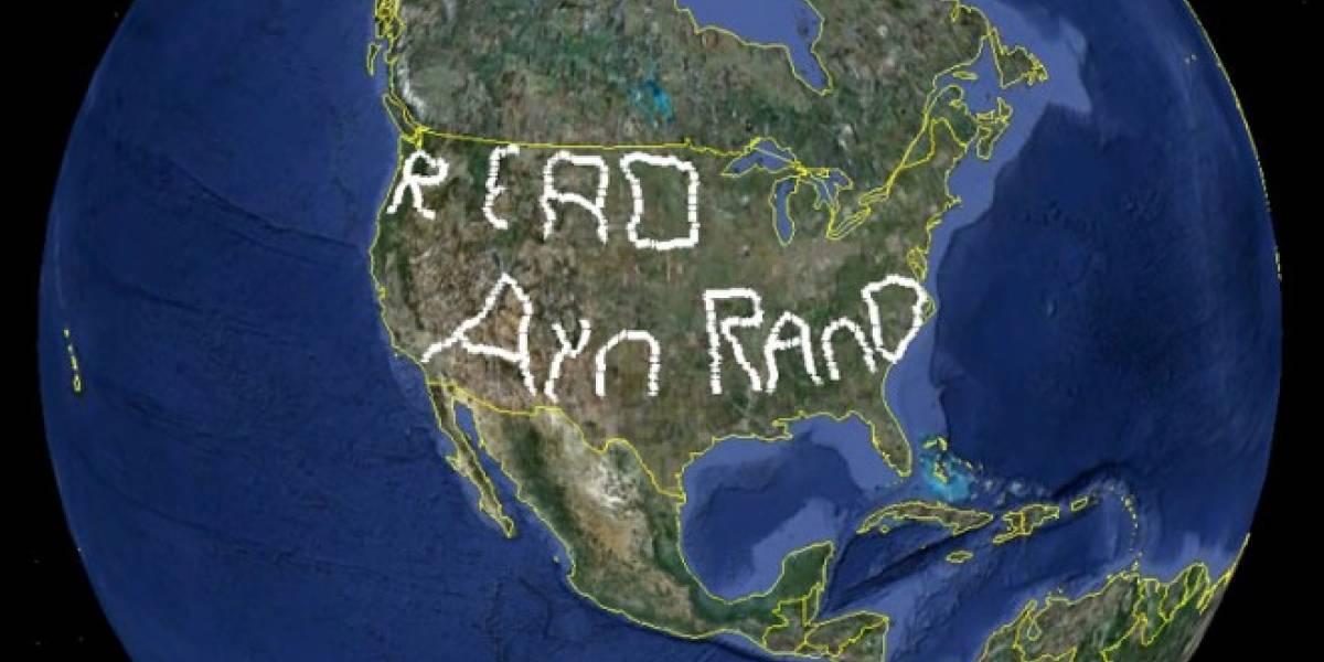 Un hombre escribe el mensaje más grande del mundo con un auto y un GPS