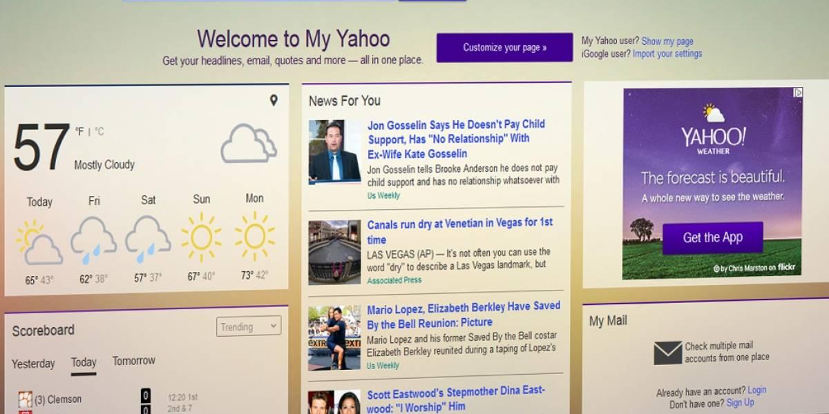 Yahoo intenta revivir las páginas personalizadas