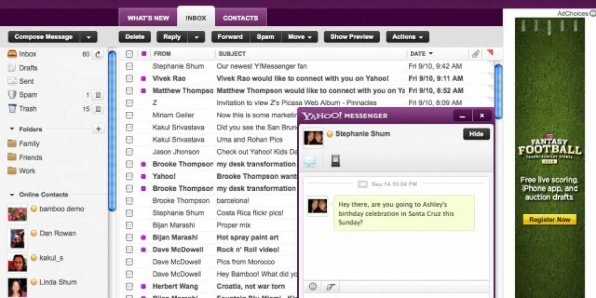 Yahoo! Mail muestra su nueva cara