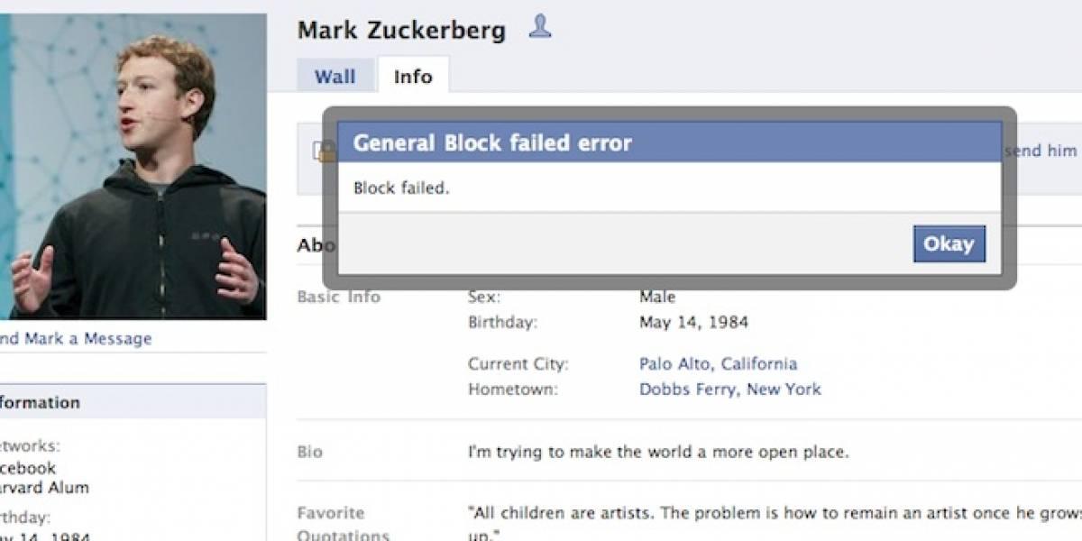Mark Zuckerberg, el imbloqueable