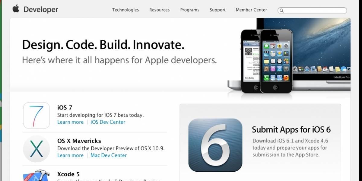 Sitio para desarrolladores de Apple vuelve a estar en línea