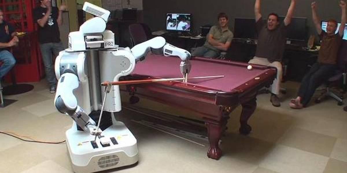 El robot PR2 demuestra sus habilidades en el billar (Video)