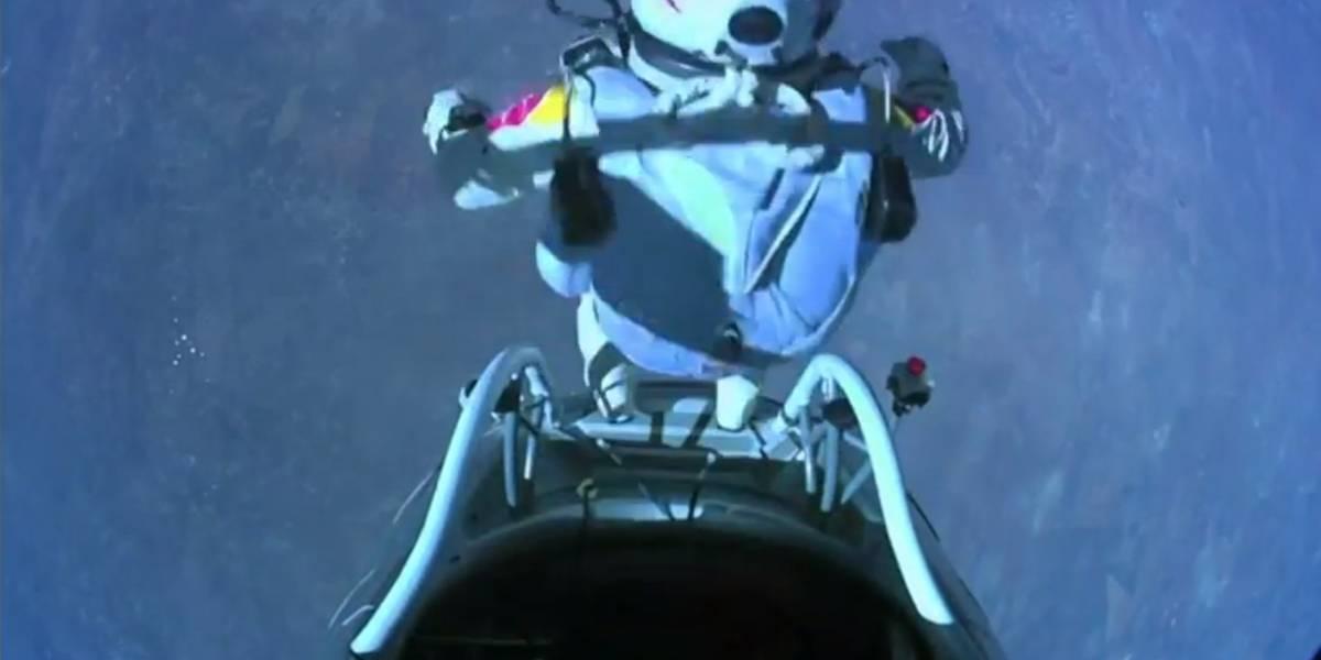 Felix Baumgartner rompió la barrera del sonido con su cuerpo alcanzando Mach 1,24