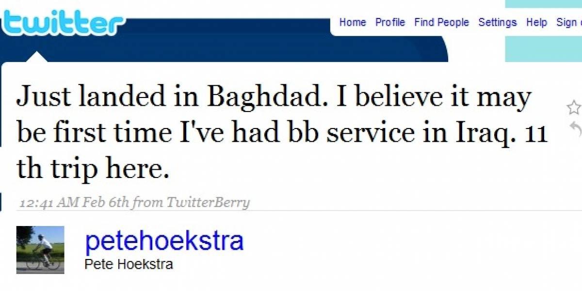 Miembro del Congreso de los EEUU revela viaje secreto vía Twitter
