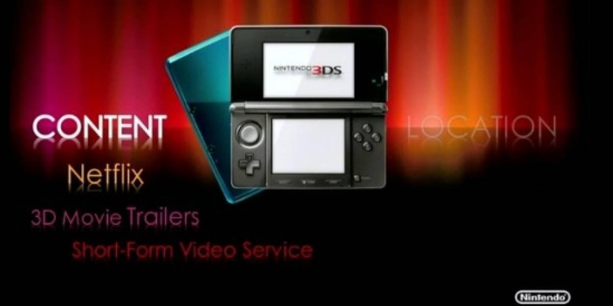 Nintendo 3DS tendrá Netflix con películas 3D estereoscópico