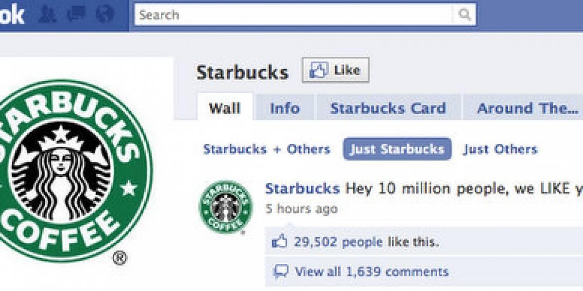 Starbucks superó los 10 millones de seguidores en Facebook