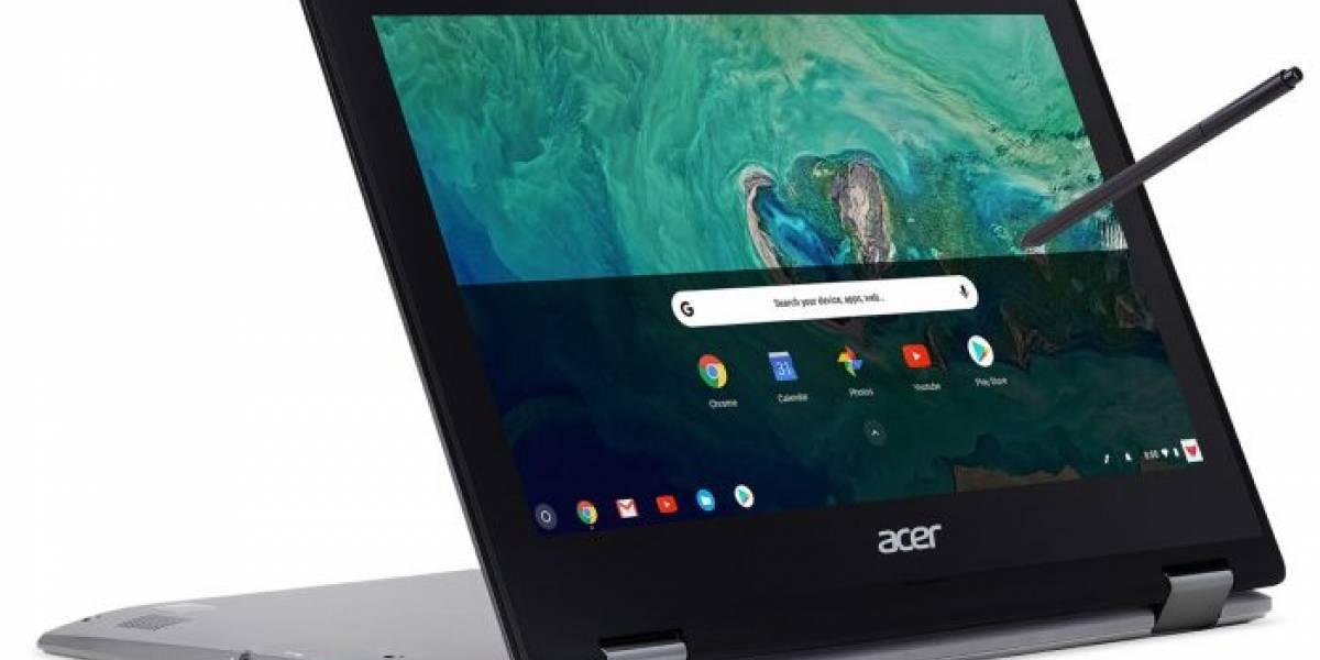 Acer anuncia una Chromebook con pantalla táctil y soporte para Android