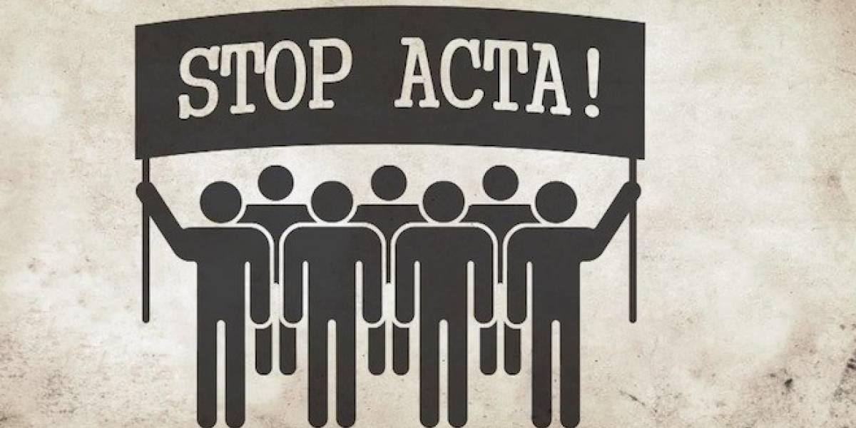 Europeos se manifiestan en contra de ACTA
