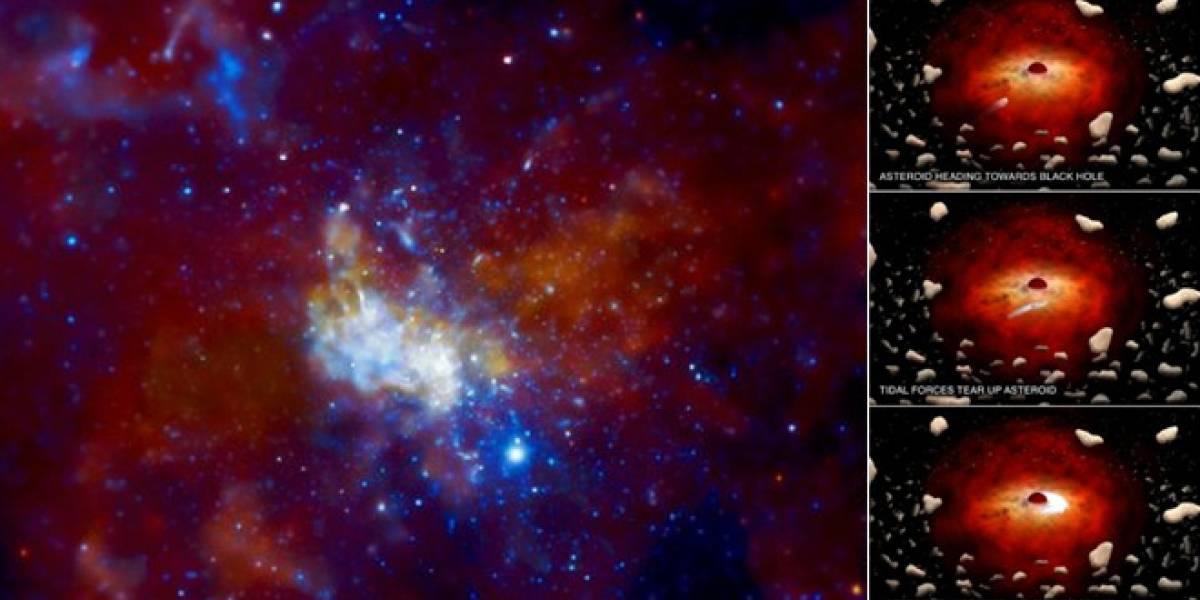 Astrónomos observan un agujero negro supermasivo que devora asteroides
