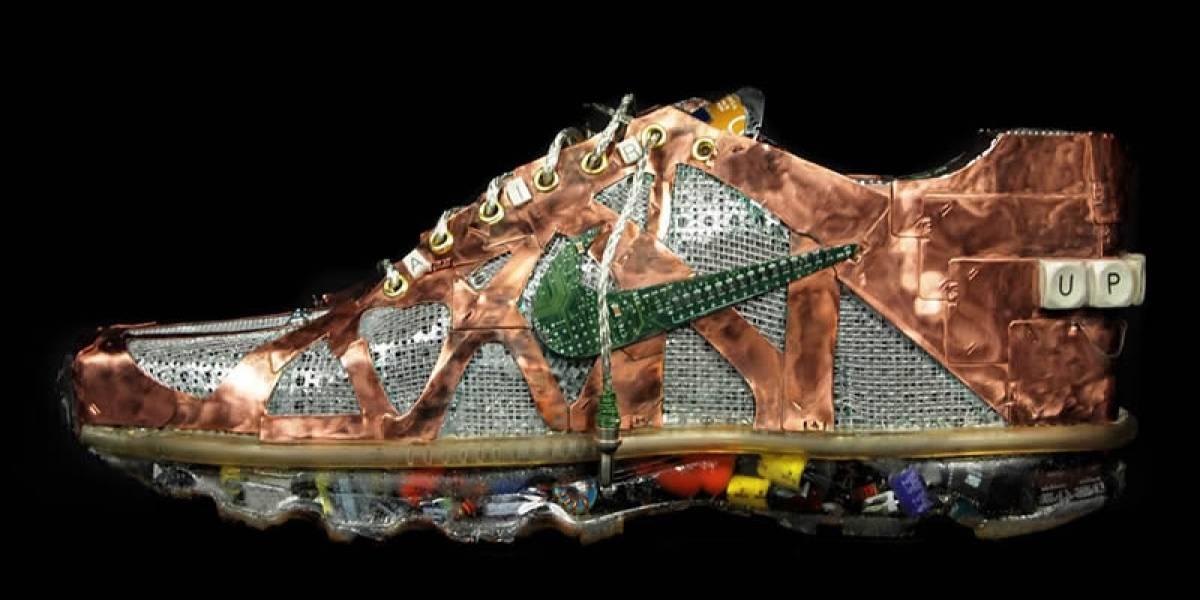 Zapatillas Nike hechas de desechos tecnológicos