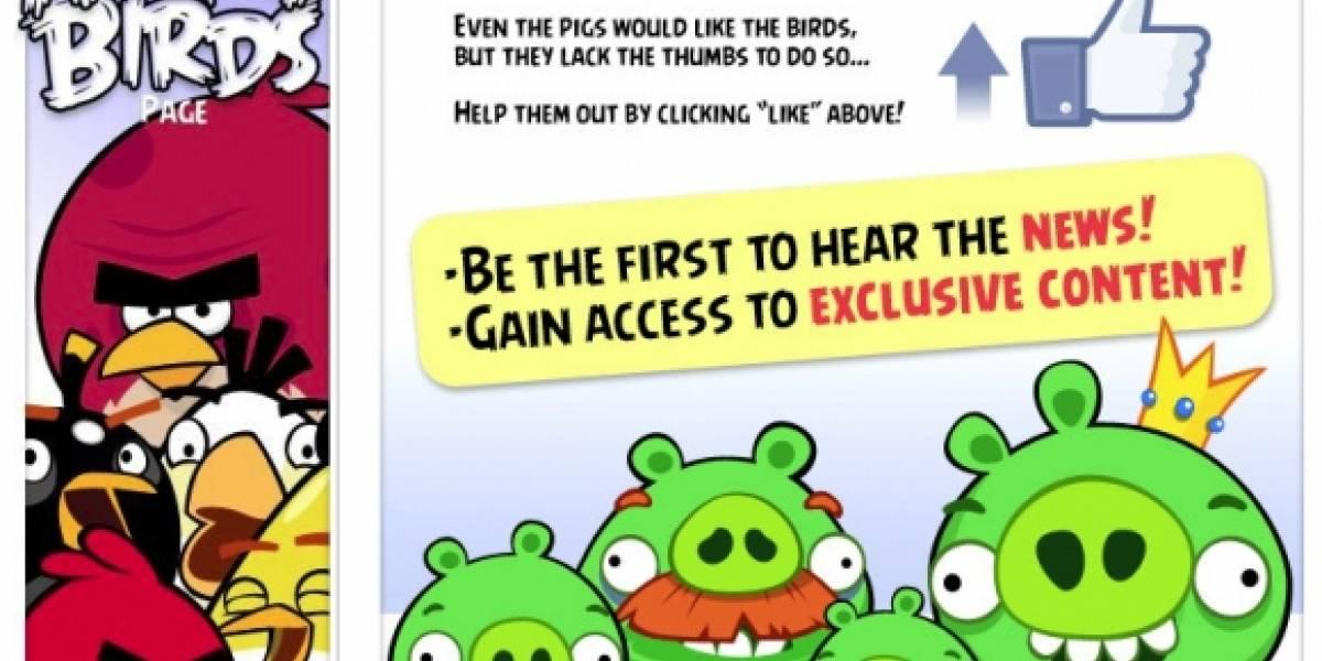 Angry Birds llegará a Facebook en abril