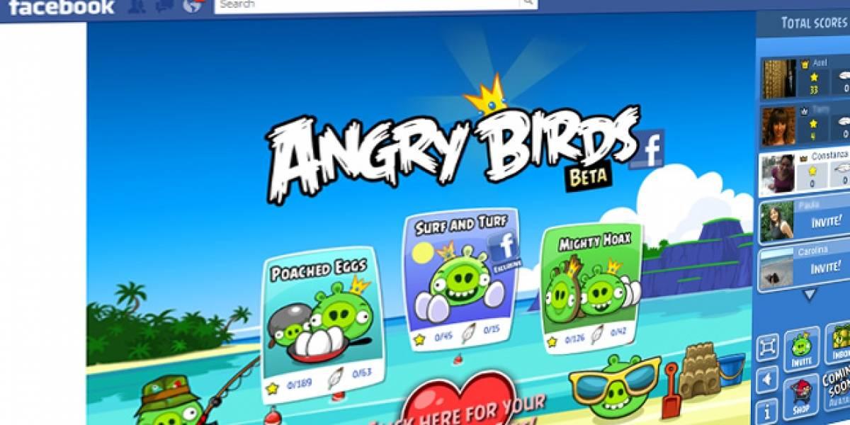 Angry Birds ya se puede jugar en Facebook