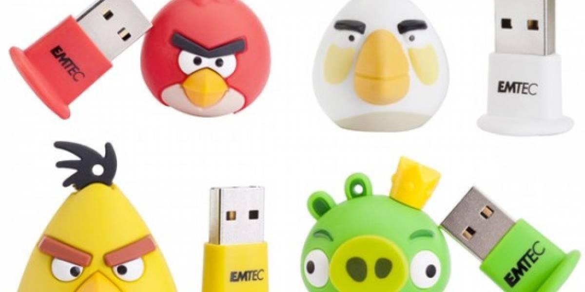 Imprescindible en tu colección de Angry Birds: memorias USB