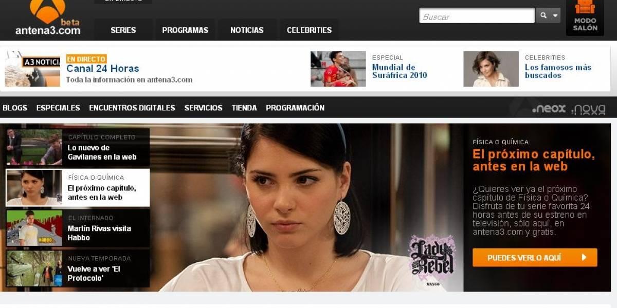 La cadena de televisión española Antena 3 rediseñó su portal y lo adapta a dispositivos móviles